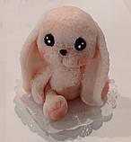 Мило ручної роботи зайчик рожевий, фото 3