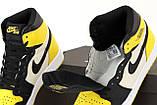 Кроссовки мужские Nike Air Jordan High OG в стиле найк джордан Желтые (Реплика ААА+), фото 6