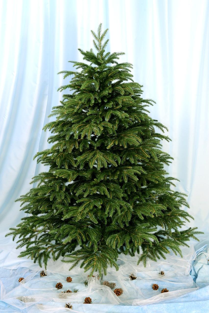 Искусственная натуральная Ёлка Альпийская 230см ( ель ) 2.3м литая Зеленая