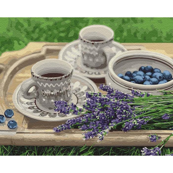 Картины по номерам Лавандовый завтрак (КНО5600)