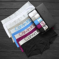 Трусы мужские Calvin Klein Steel боксеры, мужской набор Кельвин Кляйн реплика, фото 8