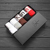 Трусы мужские Calvin Klein Steel боксеры, мужской набор Кельвин Кляйн реплика, фото 10