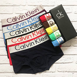 Трусы мужские Calvin Klein Steel боксеры, мужской набор Кельвин Кляйн реплика