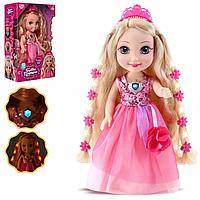 Детская Интерактивная Кукла светящиеся волосы и светящийся кулон,13 песен, 8 сказок, Укр. Язык