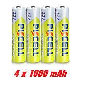 AAA 4шт аккумулятор 1000 мАч 1.2v качество!, фото 1