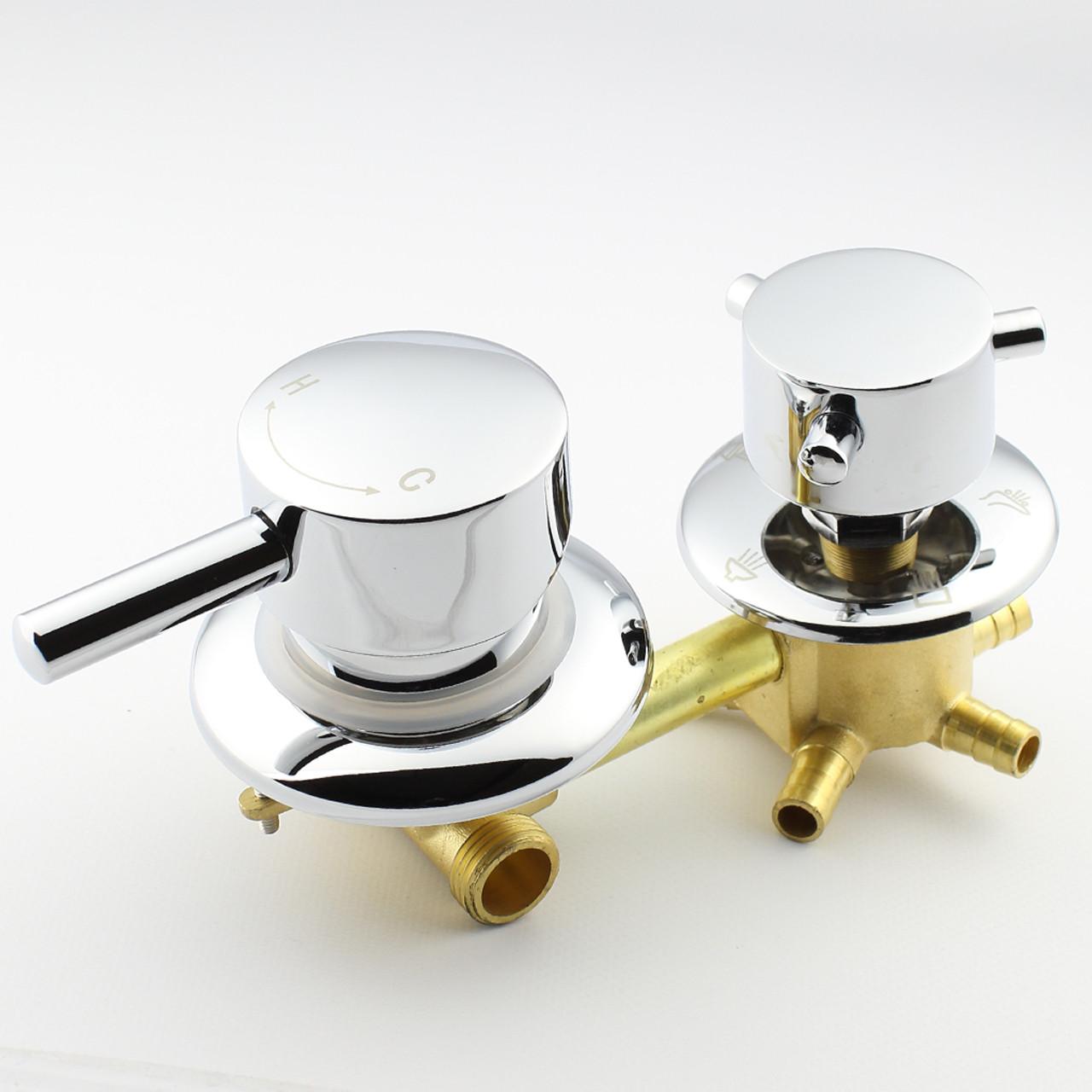 Змішувач для душових кабін, гідромасажних боксів S5-100 на 5 положень.