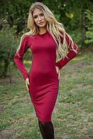 Платье 153R4013 цвет Бордовый