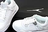 Кроссовки мужские Nike Air Jordan Retro 4 White в стиле найк джордан (Реплика ААА+), фото 7