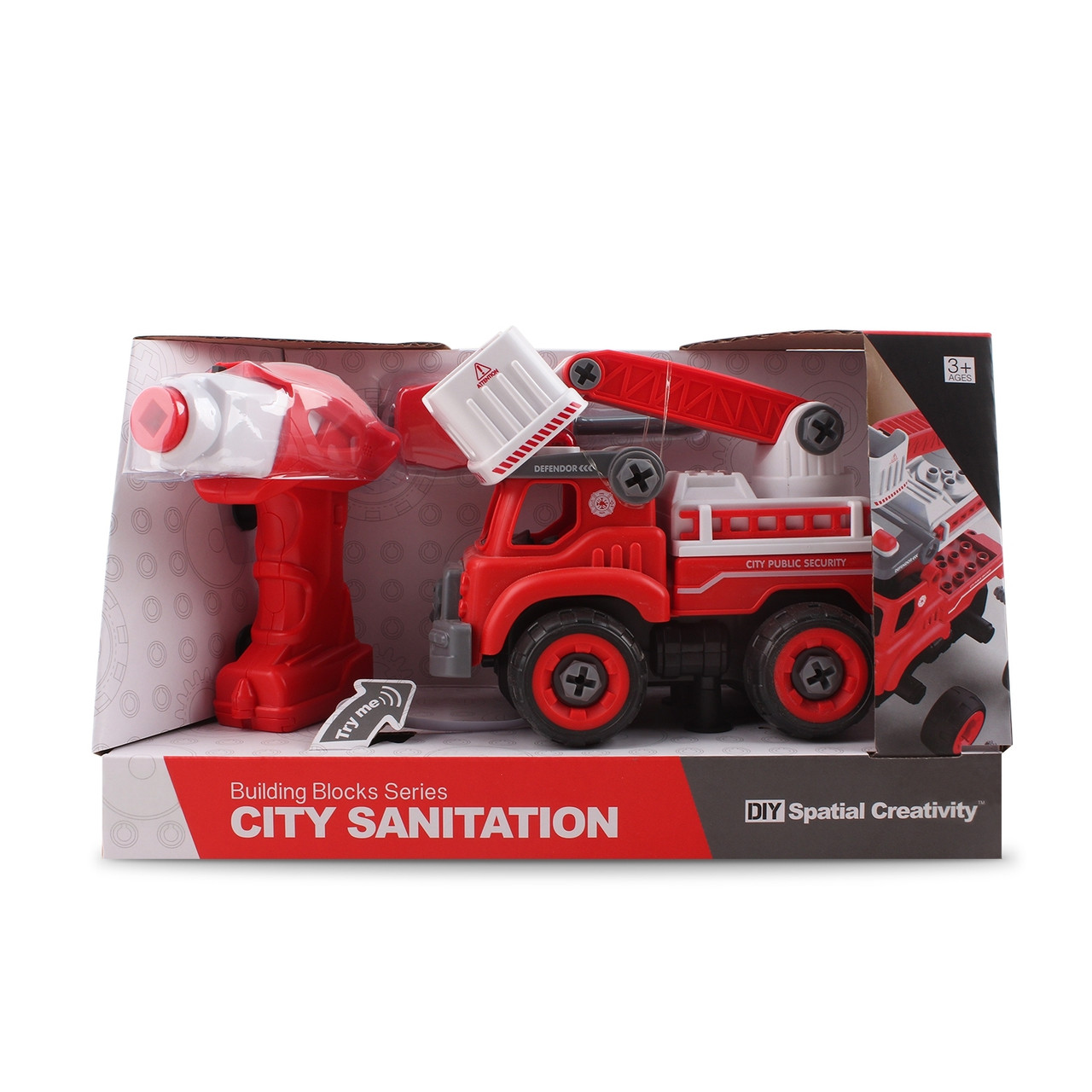 Пожарная машина с лестницей- конструктор, на р/у  Hulna 2030013