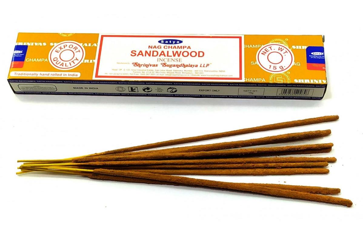 Масала палочки Sandalwood (Сандаловое дерево), Satya