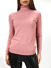 Гольф - водолазка женская кашемировая розовой