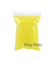 Шарики пенопластовые, 2-4мм,1000 мл, Желтые, для слаймов и декора.