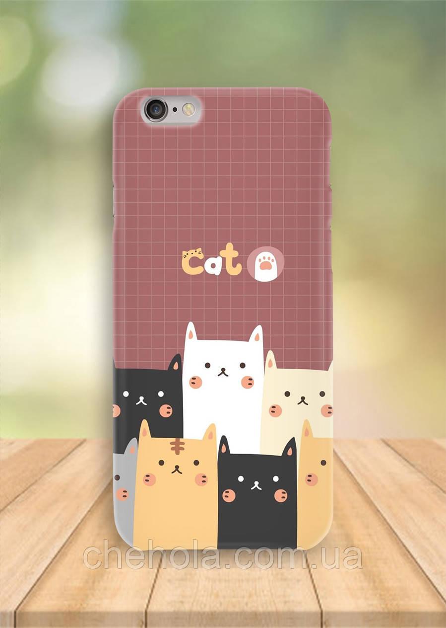 Чехол на iPhone 6S 6 PLUS 6 Коты узор