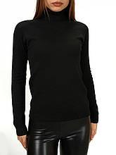 Гольф - водолазка женская кашемировая черный