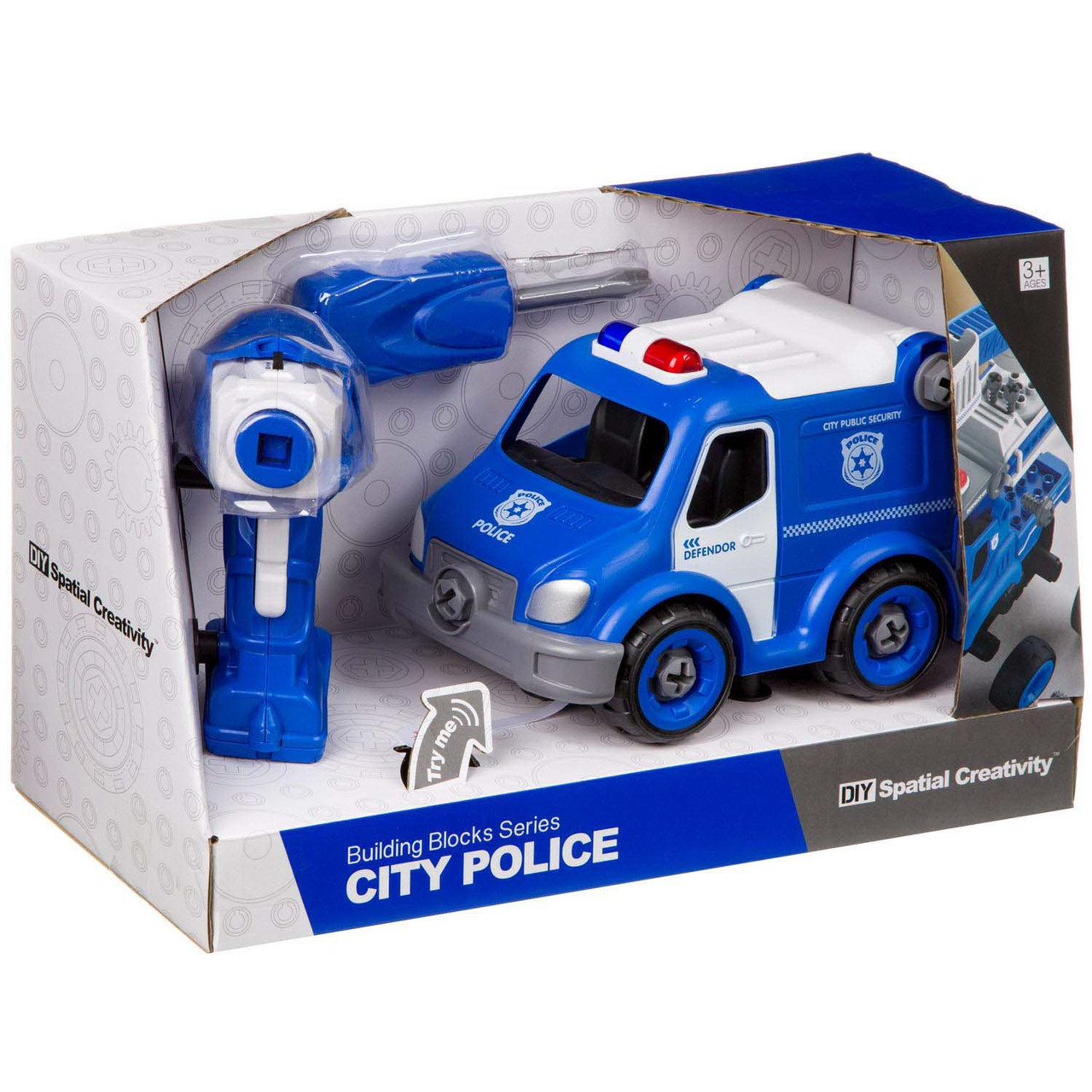 Полицейская машина- конструктор, на р/у  Hulna 2030017