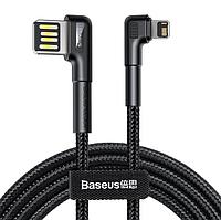Кабель Baseus Elbow USB - iPhone Lightning Cable Charge 2.4A для зарядки передачи данных 1метр Чёрный