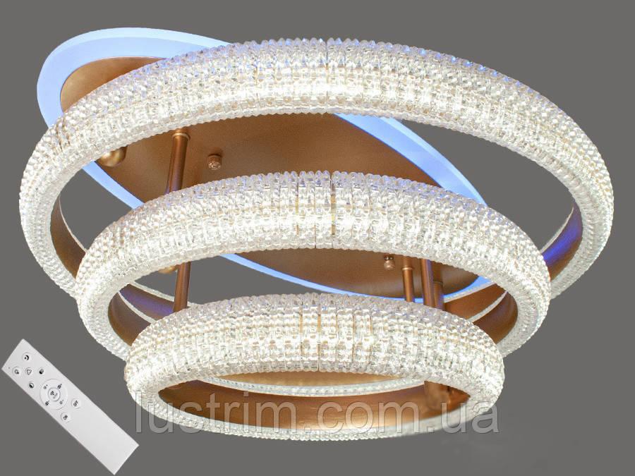 Светодиодная LED-люстра с диммером и подсветкой, 90W