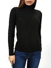 Гольф - водолазка женская черная