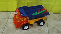 Детская машина Грузовик Песочница,380x190x160 мм.Машинка игрушечная Грузовая машина Грузовик Песочница 136 для