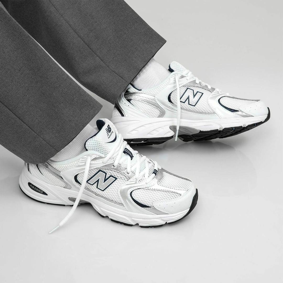 Мужские кроссовки New Bаlance 530 в стиле нью беланс Белые (Реплика ААА+)