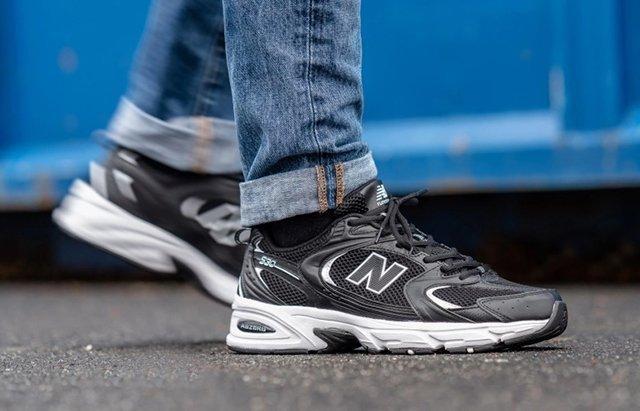 Мужские кроссовки New Bаlance 530 в стиле нью белансЧерные (Реплика ААА+)