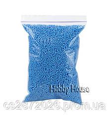 Шарики пенопластовые 2-4мм,1000 мл, Голубые, для слаймов и декора.