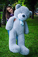 Медведь плюшевый мишка большой ведмедь серый