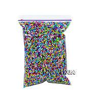 Шарики пенопластовые 2-4 мм,1000 мл, Микс (разноцветные), для слаймов и декора.