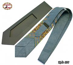 Вышитый галстук лён Заряд энергии, фото 3