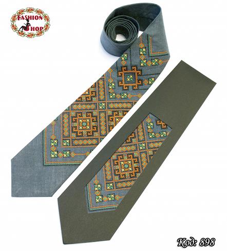 Вышитый галстук лён Заряд энергии