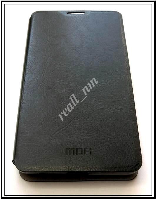 Черный кожаный чехол Mofi для смартфона Microsoft Lumia 535