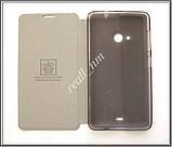 Черный кожаный чехол Mofi для смартфона Microsoft Lumia 535, фото 4