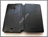 Черный кожаный чехол Mofi для смартфона Microsoft Lumia 535, фото 5