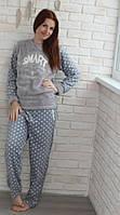 Махровая пижама женская кофта и брюки Турция