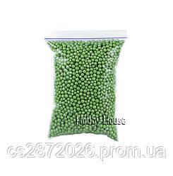 Шарики пенопластовые 4-6 мм,1000 мл, Зеленые, для слаймов и декора.