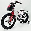 ✅ Детский Двухколесный Магнезиевый Велосипед MARS 18 Дюйм Белый, фото 3