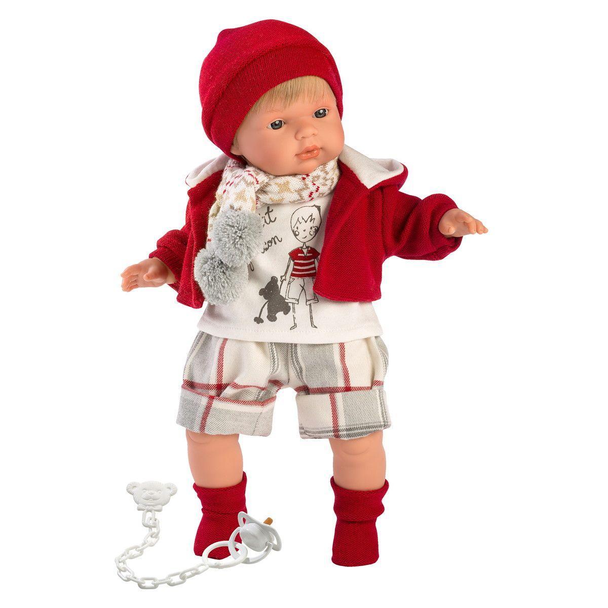 Интерактивная плачущая кукла, 38 см, Мальчик- Саша, Llorens 38555
