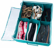 🔥✅  Органайзер для обуви на 6 пар Organize лазурь Lzr-O-6SKL34-176241