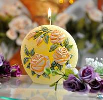 🔥✅  Свеча-диск Садовая роза 130мм SKL11-209194