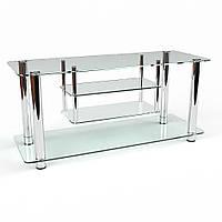 Тумбочка для телевизора из стекла модель Консул