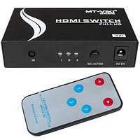 Соединитель HDMI, 3 гнезда HDMI - 1 гнездо HDMI, HDMI Switch 3 port: HDMI, MT-Viki, 1.3V c пультом