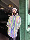 Женская  куртка  с капюшоном из нереальной светоотражающей плащевки, фото 2