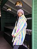 Женская  куртка  с капюшоном из нереальной светоотражающей плащевки, фото 3