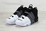 Кроссовки мужские Nike Air More Uptempo Tri Color в стиле найк аптемпо ЧЕРНЫЕ (Реплика ААА+), фото 3