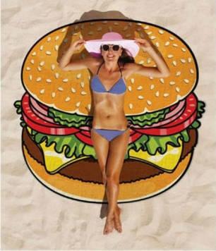 🔥✅Пляжный коврик Hamburger 143 см SKL32-152678