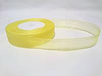Лента органза светло-желтая 2,5см