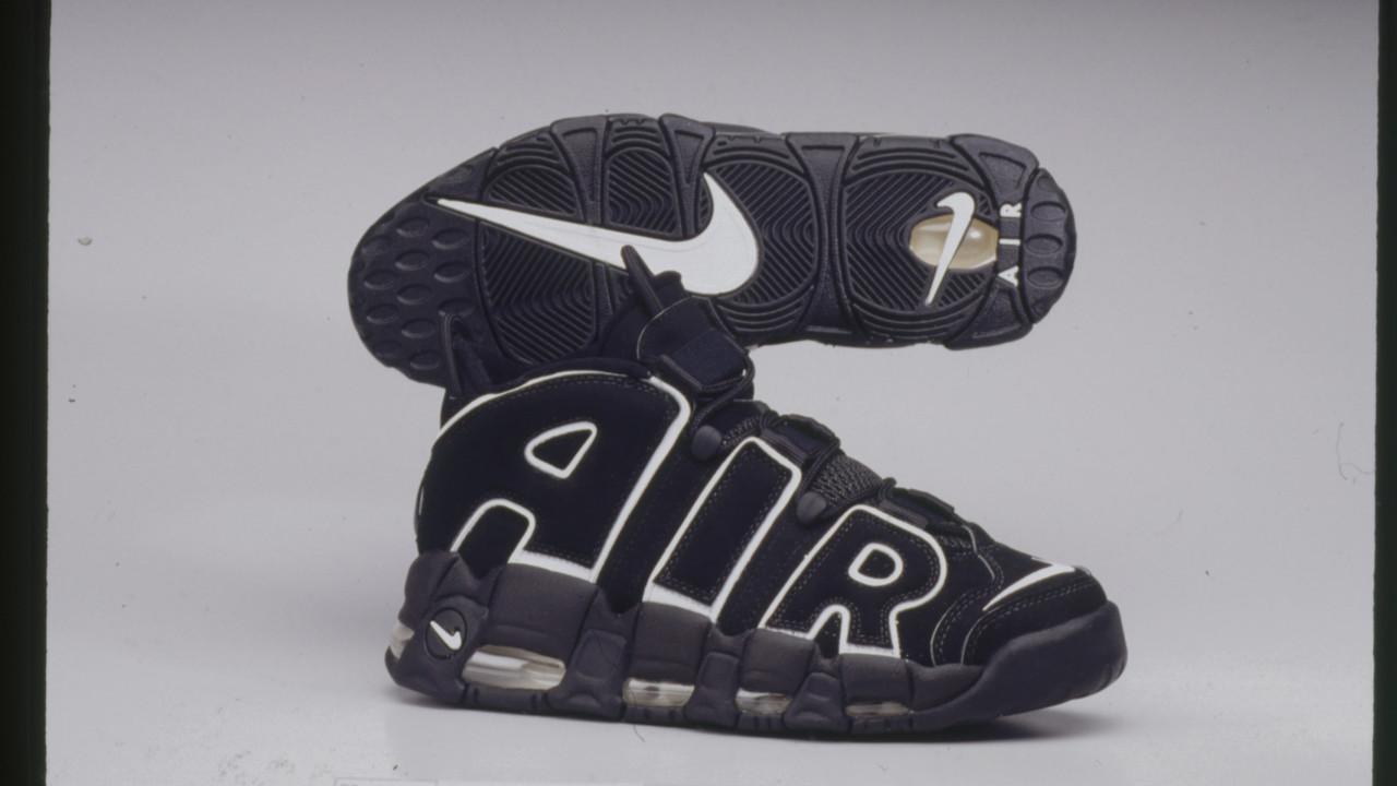 Кроссовки мужские Nike Air More Uptempo в стиле найк аптемпо ЧЕРНЫЕ (Реплика ААА+)