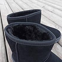 Чорні чоловічі уггі UGG замша еко замшеві низькі короткі чоботи зимові черевики, фото 3