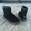 Чорні чоловічі уггі UGG замша еко замшеві низькі короткі чоботи зимові черевики, фото 5