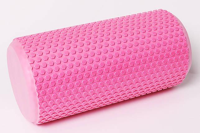 Массажный валик Profi 30х15 см. (MS 3231P) Розовый, фото 2